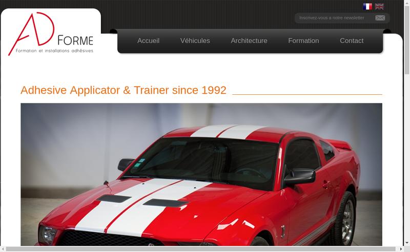 Capture d'écran du site de Ad Forme
