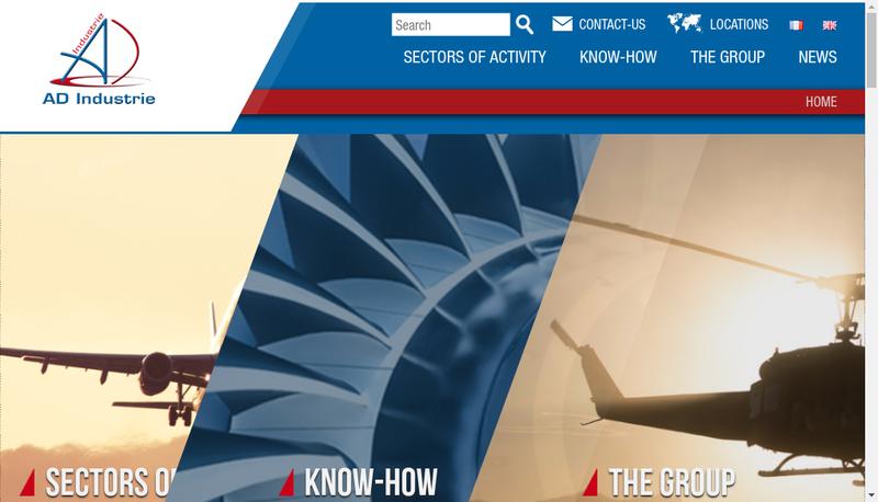Capture d'écran du site de Ad Industrie