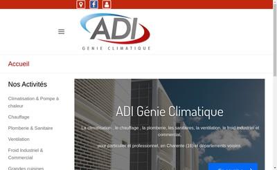 Site internet de Adi Froid Adi Genie Climatique Adi Electricite