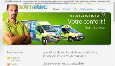 Site internet de Adimelec Adimplomberie Adimclimatisation Adimramonage