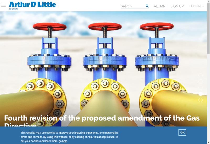 Capture d'écran du site de Arthur d'Little