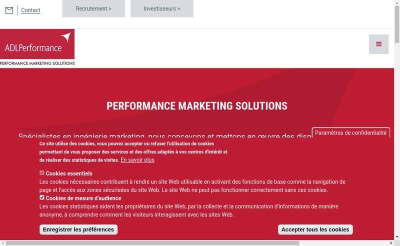 Capture d'écran du site de Adlp-France Abonnements Entreprises