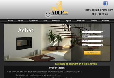 Capture d'écran du site de ADLP