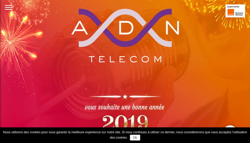 Capture d'écran du site de Adn Telecom