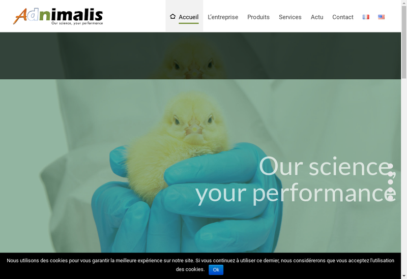 Capture d'écran du site de Adnimalis Europe
