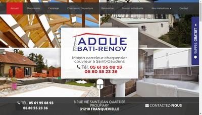 Site internet de Adoue Bati Renov