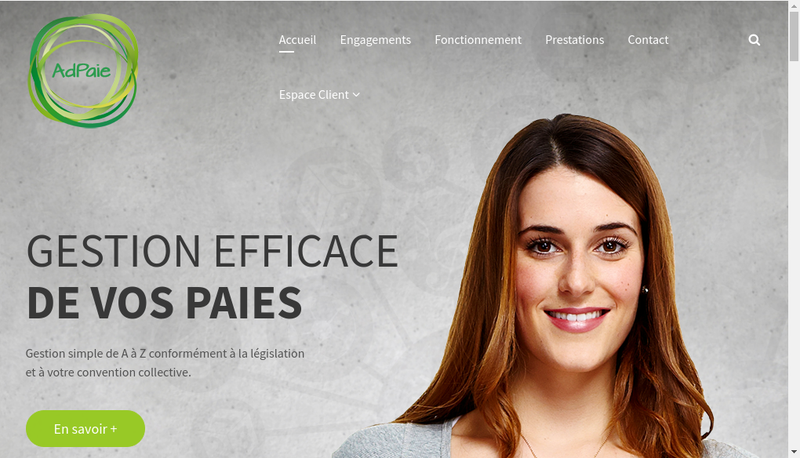 Capture d'écran du site de Adpaie