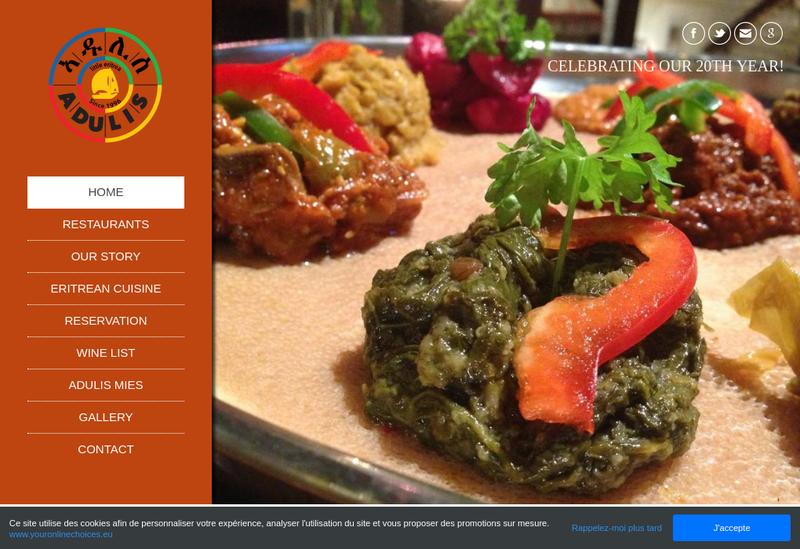 Capture d'écran du site de Adulis