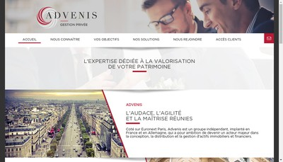 Site internet de Advenis Gestion Privee