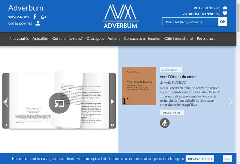 Capture d'écran du site de Atelier Perrousseaux Editeur