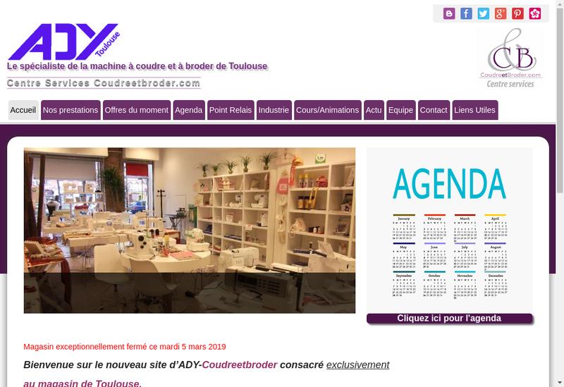 Capture d'écran du site de Ady Toulouse