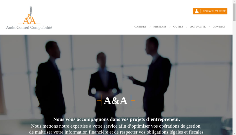 Capture d'écran du site de Geseris
