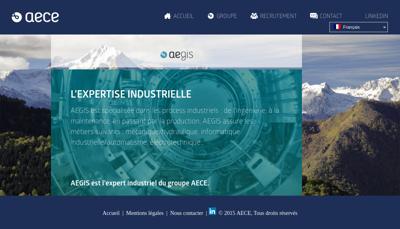 Capture d'écran du site de Af Technologies