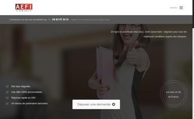 Site internet de Aefi Analyse Expertise en Financement Immobilier