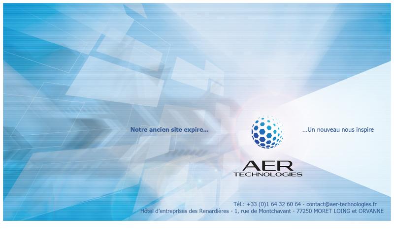 Capture d'écran du site de Aer Technologies