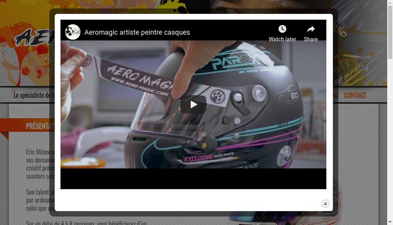 Capture d'écran du site de Aeromagic
