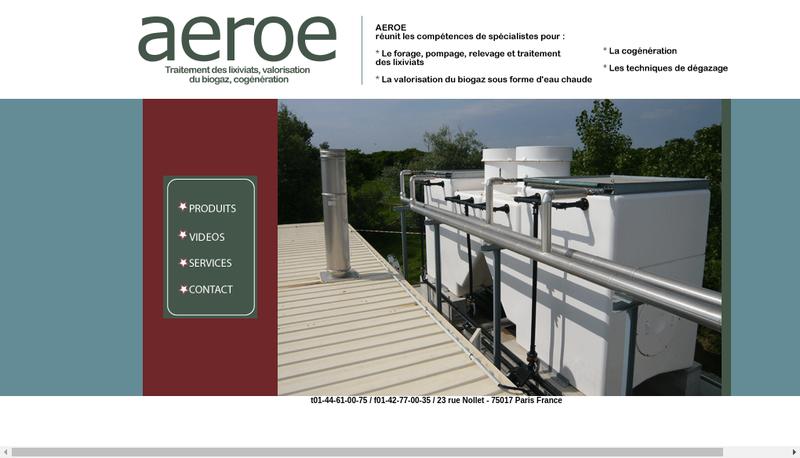 Capture d'écran du site de Aeroe