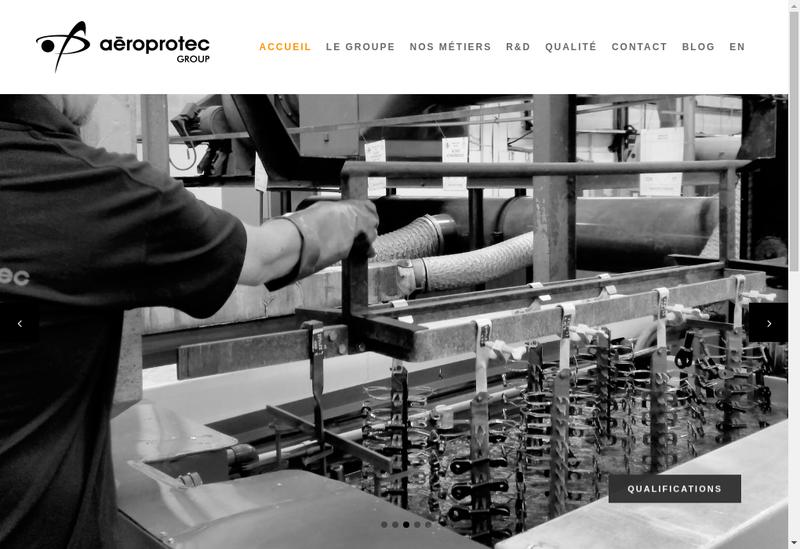 Capture d'écran du site de Aero Protec