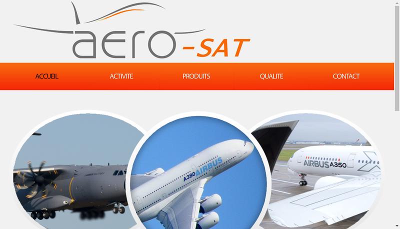 Capture d'écran du site de Aero-Sat