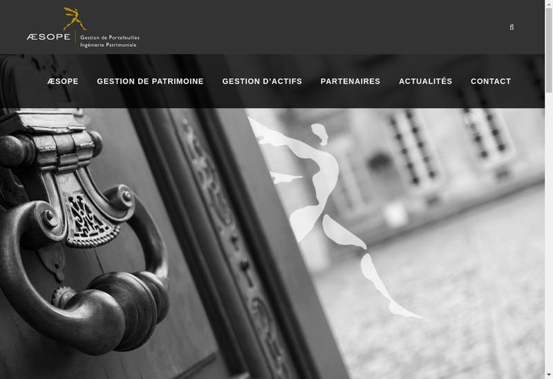 Capture d'écran du site de Aesope