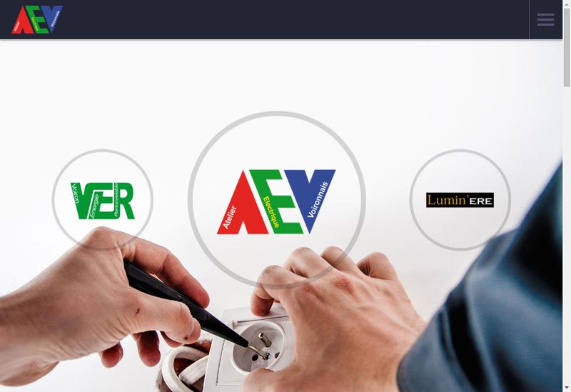 Capture d'écran du site de Atelier Electrique Voironnais