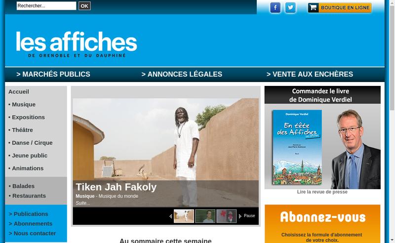 Capture d'écran du site de Hebdomadaire de Ch