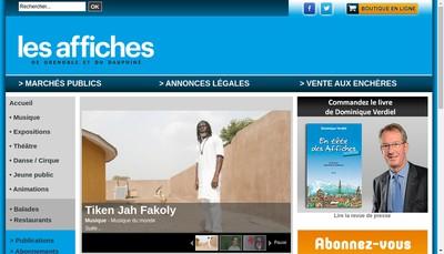 Site internet de Hebdomadaire de Ch