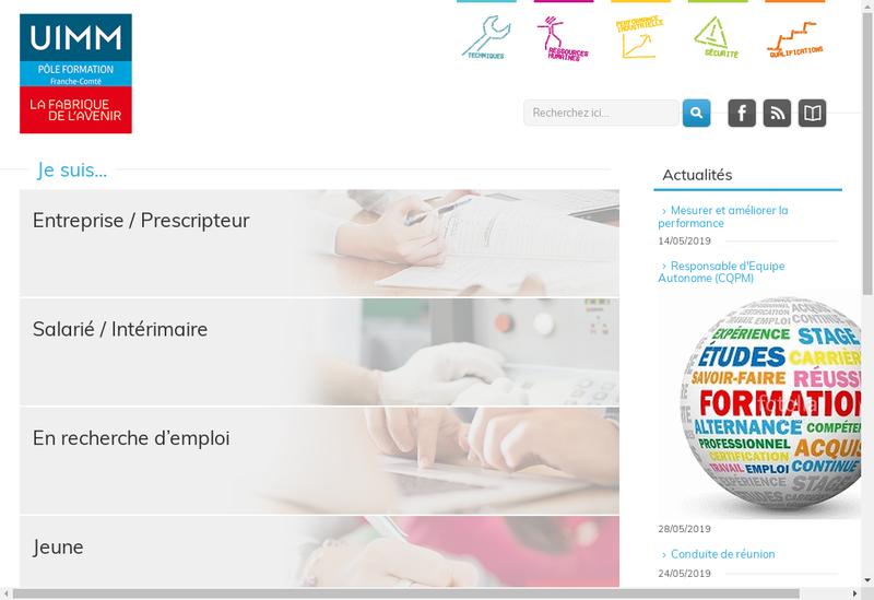Capture d'écran du site de Afpi Sud Franche Comte