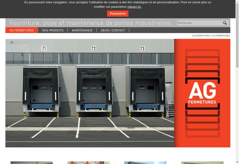 Capture d'écran du site de Ag Fermetures