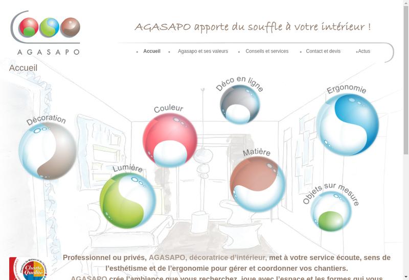 Capture d'écran du site de Agasapo