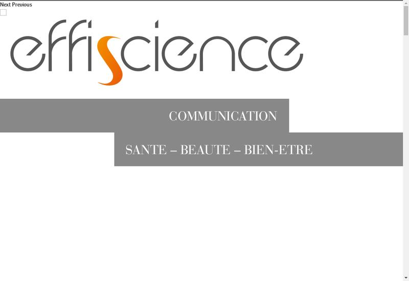 Capture d'écran du site de Effiscience Communication