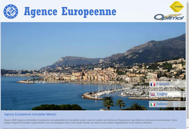 Capture d'écran du site de Agence Europeenne Commerce et Services