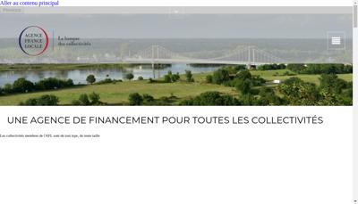 Capture d'écran du site de Agence France Locale