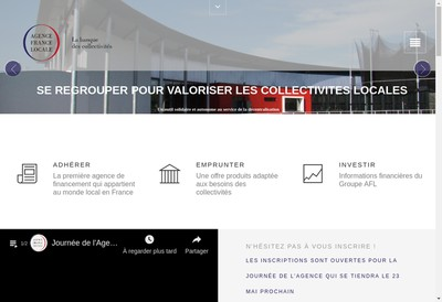 Site internet de Agence France Locale