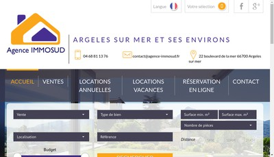 Site internet de Agence Immosud SARL