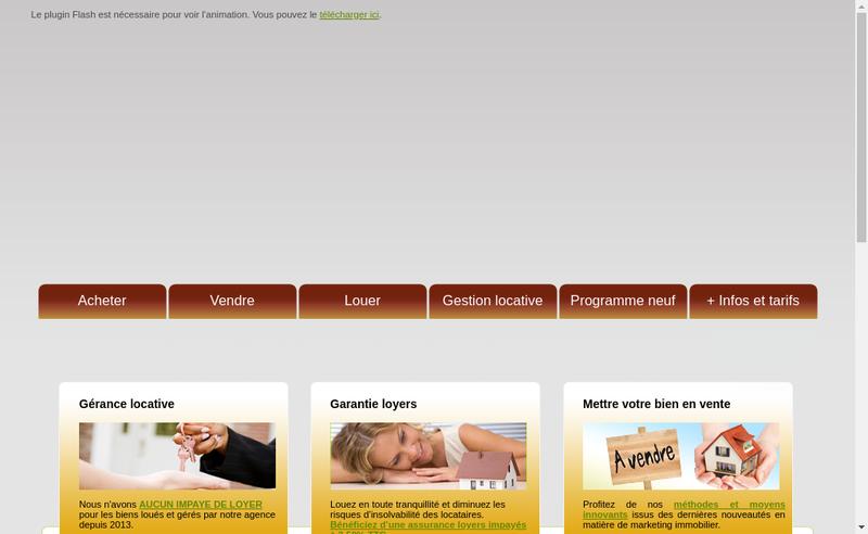 Capture d'écran du site de Agence Schorp