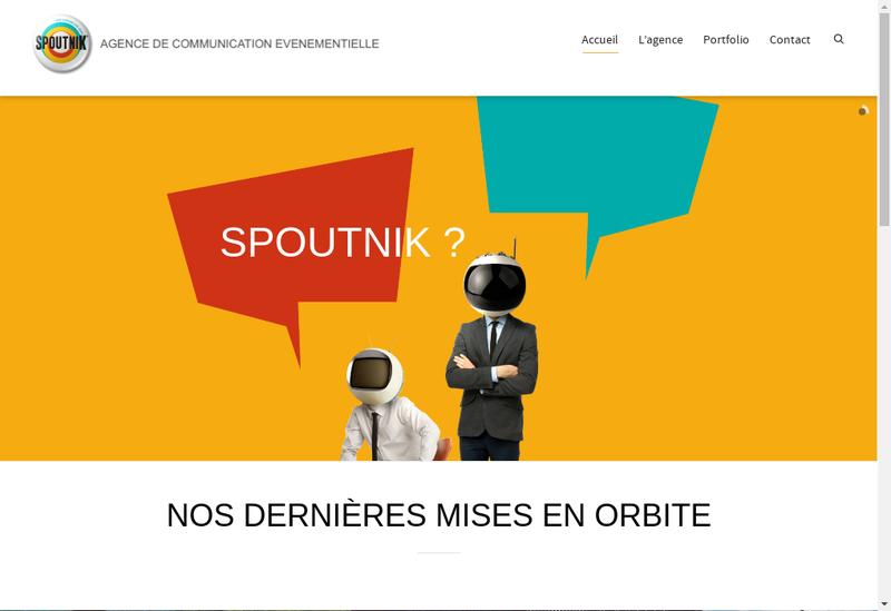 Capture d'écran du site de Spoutnik