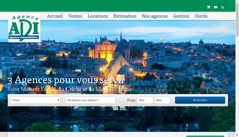 Capture d'écran du site de Agence Adi