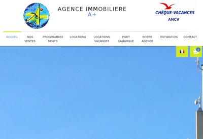 Capture d'écran du site de À