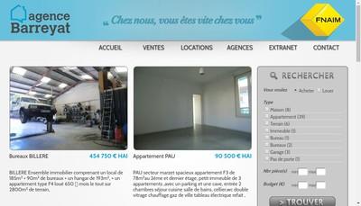 Site internet de Agence Barreyat
