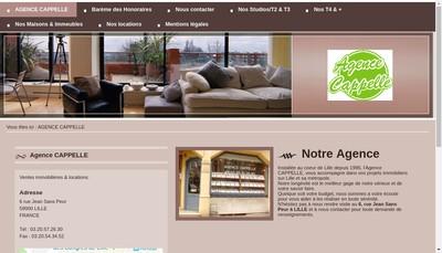 Site internet de Agence Cappelle