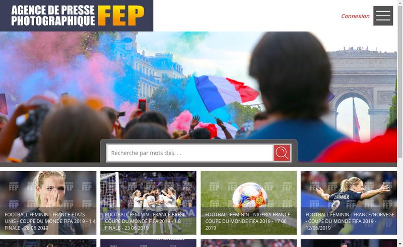 Capture d'écran du site de Agence FEP