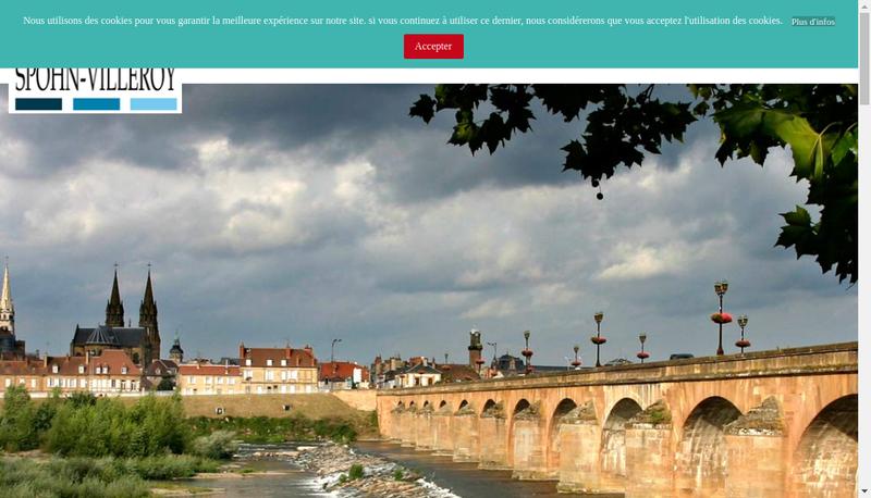 Capture d'écran du site de Cabinet Spohn-Villeroy