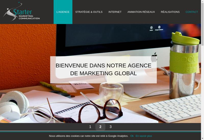 Capture d'écran du site de Starter