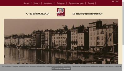 Site internet de Agence Transact
