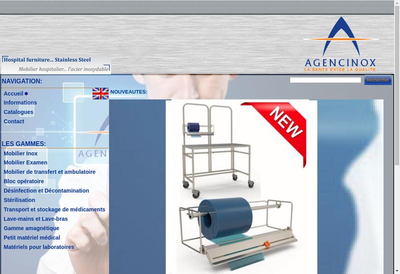 Capture d'écran du site de Agencinox