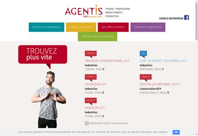 Site internet de Agentis Chatellerault