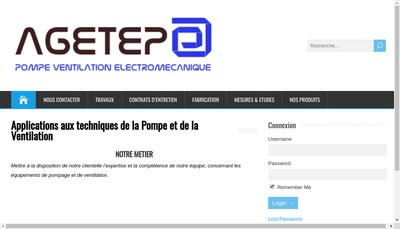 Site internet de Agetep-Gaspar Maintenance