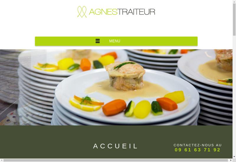 Capture d'écran du site de Agnes Traiteur