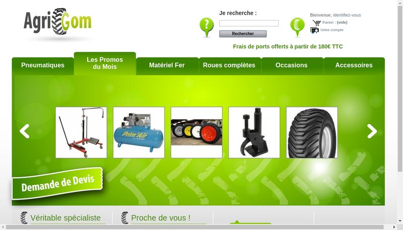 Capture d'écran du site de Agrigom